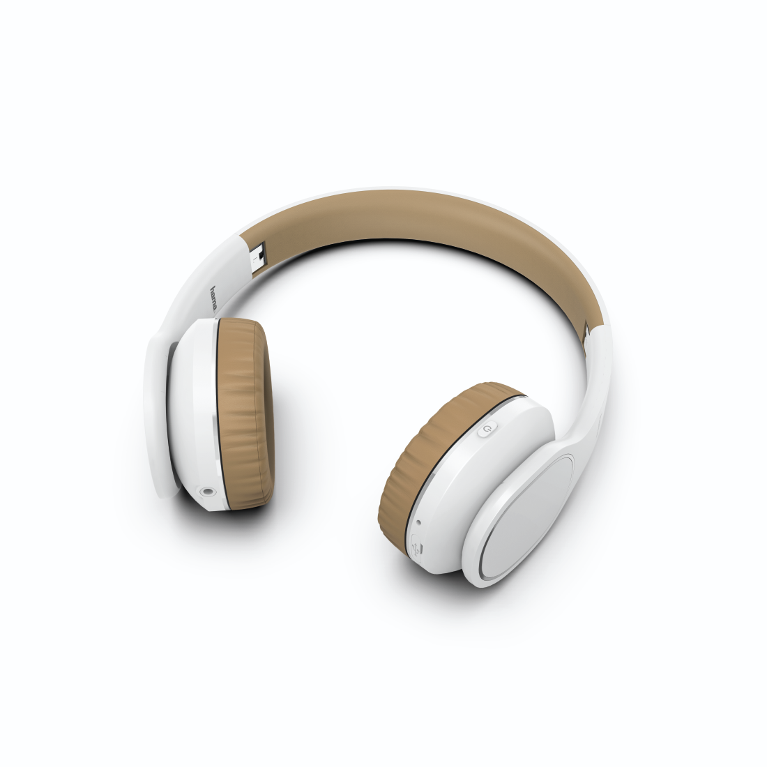 "abx2 High-Res Image 2 - Hama, Casque Bluetooth® ""Touch"", supra-aur., micro., comm. tact., blc/beige"